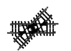 Kreuzung, 90 mm <br/>Märklin 02258