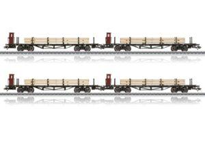 Flachwagen mit Holzbeladung DRG <br/>Märklin 046287