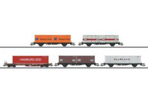 Containertragwagen-Set DB <br/>Märklin 047689