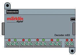 Zubehör-Decoder m83 <br/>Märklin 060831