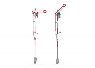 Form-Hauptsignal (Schmalmast) <br/>Märklin 070391
