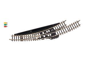 Bogenweiche, mit elektromagnetischem Antrieb, links, r195 mm <br/>Märklin 08568