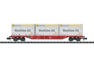 Containertragwagen mit 3 Woodt <br/>TRIX 15519