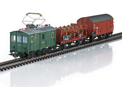 Güterzug mit Güter-Triebwagen D <br/>TRIX 21194