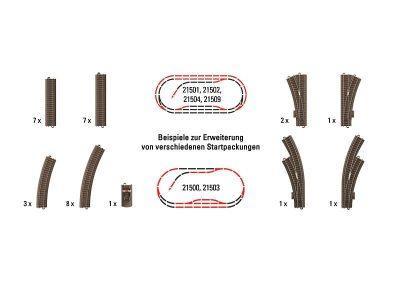 Gleis-Ergänzung Trix H0 für St <br/>TRIX 62900