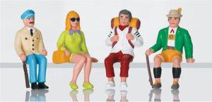 Touristen, sitzend <br/>LGB 51420