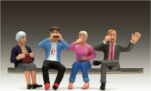 Speisewagen-Figuren, sitzend <br/>LGB 52445