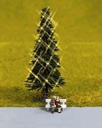 Grüne Weihnacht, Christbaum beleuchtet <br/>NOCH 11911