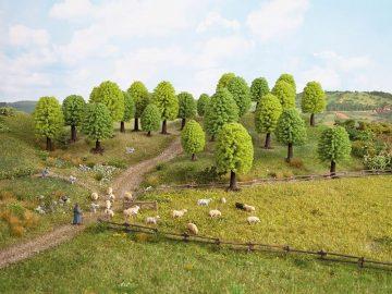 Laubbäume, 5 – 9 cm hoch, 10 Stück <br/>NOCH 26901 1