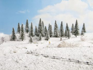 Schneetannen, 10 Stück, 5 – 14 cm hoch <br/>NOCH 26928 1