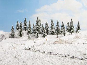 Schneetannen, 5 Stück, 5 – 9 cm hoch <br/>NOCH 26929 1
