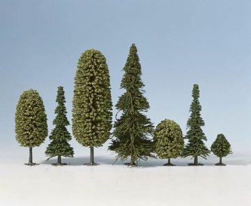 Bäume, Mischwald, 4 – 10 cm hoch, 25 Stück <br/>NOCH 32511 1