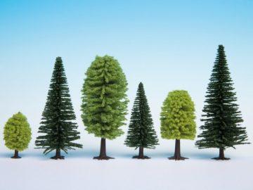 Bäume, Mischwald, 3,5 – 9 cm hoch, 25 Stück <br/>NOCH 32811 1