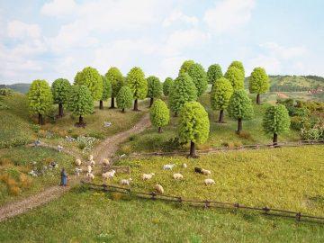 Laubbäume, 3,5 – 5 cm hoch, 10 Stück <br/>NOCH 32901 1