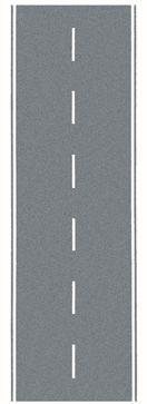 Bundesstraße, grau, 100 x 4 cm <br/>NOCH 34203 1