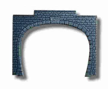 Tunnel-Portal, 2-gleisig, 9,5 x 7 cm <br/>NOCH 34410 1