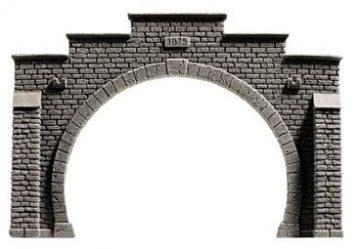 Tunnel-Portal, 2-gleisig, 12,3 x 8,5 cm <br/>NOCH 34852 1