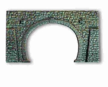 Tunnel-Portal, 2-gleisig, 16 x 9 cm <br/>NOCH 34938 1