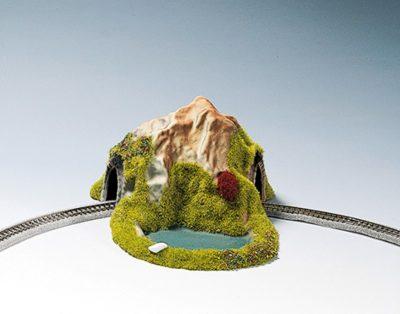 Tunnel, 1-gleisig, gebogen, 17 x 13 cm <br/>NOCH 44670