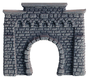Tunnel-Portal, 1-gleisig, 6,5 x 6 cm <br/>NOCH 44810