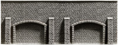 Arkadenmauer, extra-lang, 51,6 x 9,8 cm <br/>NOCH 48059