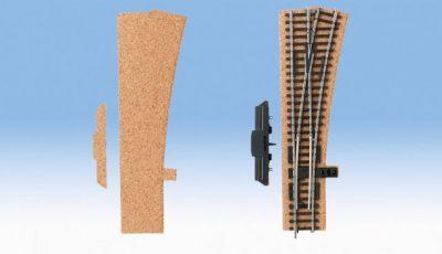 Gleisbettung, Kork, Weiche rechts, 3 mm hoch <br/>NOCH 50422