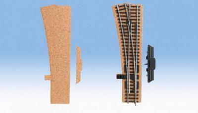 Gleisbettung, Kork, Weiche links, 3 mm hoch <br/>NOCH 50428