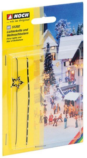 Lichterkette und Weihnachtsstern <br/>NOCH 51202