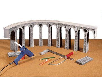Brücke, Bruchsteinviadukt gebogen, Radius (R1) 360 mm, 30° <br/>NOCH 58664 3