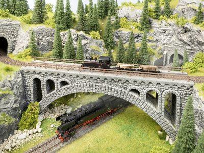 Rhône-Viadukt für Schmalspurbahnen <br/>NOCH 58671