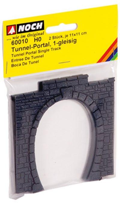 Tunnel-Portal, 1-gleisig, 11 x 11 cm <br/>NOCH 60010