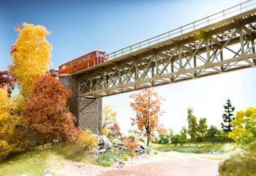 Brücke, Stahlbrücke, 37,2 cm lang <br/>NOCH 67020 1