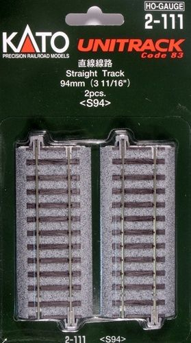 Gleis, gerade, 94 mm, 2 Stück <br/>KATO 7002111