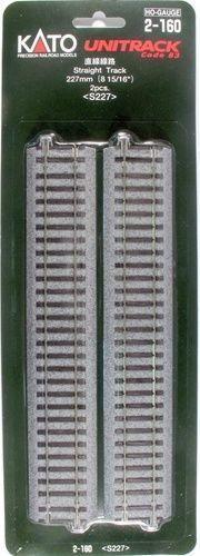 Gleis, gerade, 227 mm, 2 Stück <br/>KATO 7002160