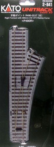 Weiche manuell, rechts 246 mm <br/>KATO 7002841