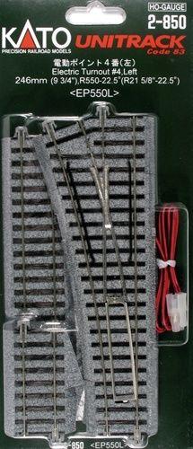 Weiche mit elektromagnetischem Antrieb, links, 360 mm m <br/>KATO 7002850