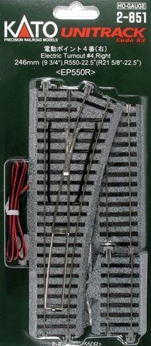 Weiche mit elektromagnetischem Antrieb, rechts, 360 mm <br/>KATO 7002851