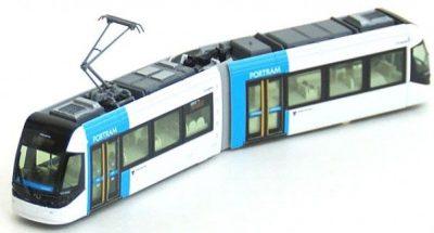 Straßenbahn, PORTRAM, TLR0606 blau <br/>KATO 70148014
