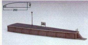 Bahnsteig Typ 3 einseitig geb <br/>KATO 7074920 1
