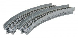 Viadukt, NBS, mit Gleis gebogen <br/>KATO 7077101