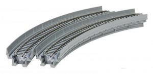 Viadukt, NBS, mit Gleis gebogen KATO 7077101