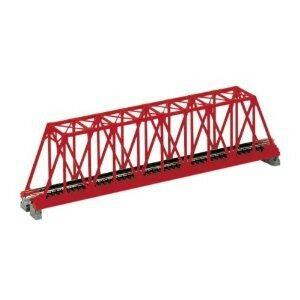 Brücke, Kasten-Brücke, rot mit Gleis <br/>KATO 7077200