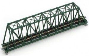 Brücke, Kasten-Brücke, grün mit Gleis <br/>KATO 7077201