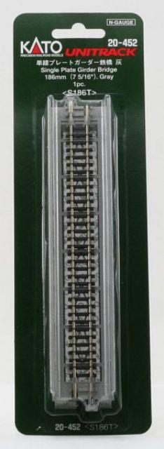 Brücke, Vorflut-Brücke grau mit Gleis <br/>KATO 7077207
