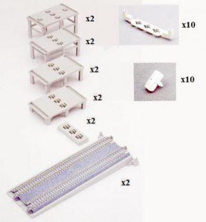 12-teiligPfeiler-Set auf- und a <br/>KATO 7077309