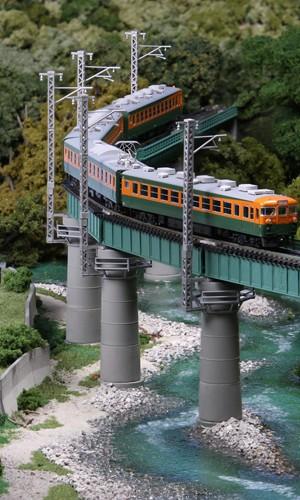 Brücken-Set, gebogen, grün <br/>KATO 7077311