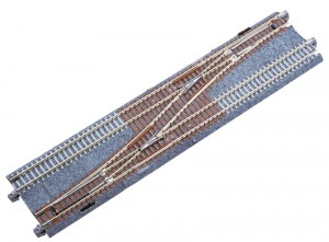 Doppelgleis mit Weiche Nr. 4, links, 248 mm <br/>KATO 7078206