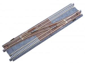 Doppelgleis mit Weiche Nr. 4, rechts, 248 mm <br/>KATO 7078207