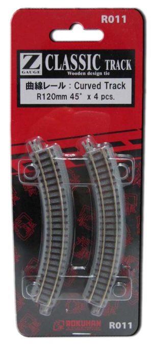 Gleis, gebogen, R120, 45° <br/>Rokuhan 7297011
