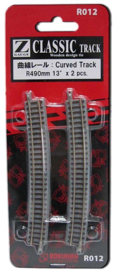 Gleis, gebogen, R490, 13° <br/>Rokuhan 7297012